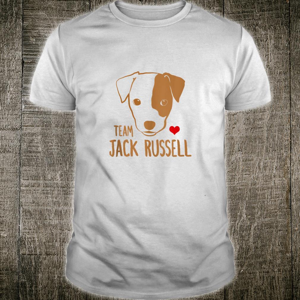 Team Jack Russell Terrier Design Puppy Dog Adult Shirt