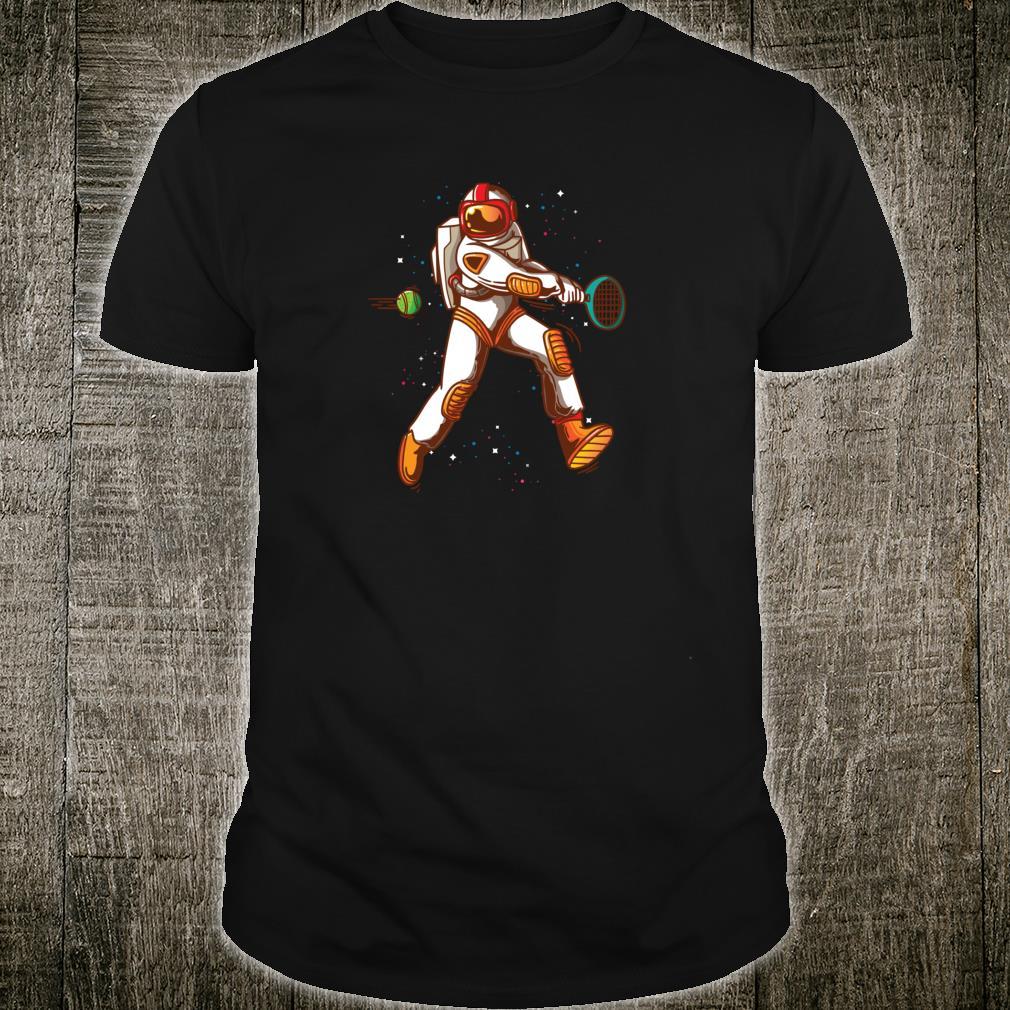 Tennis Player Space Astronaut Shirt Idea Girls Shirt