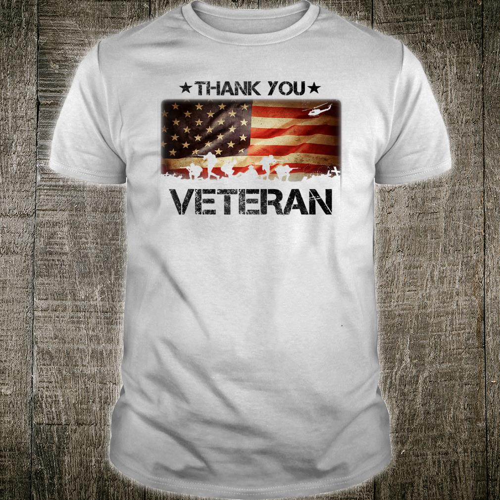 Thank You Veteran Cool American Pride US Army Military Shirt