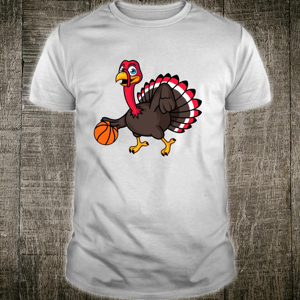 Thanksgiving Basketball Gobble Player Turkey Day Shirt