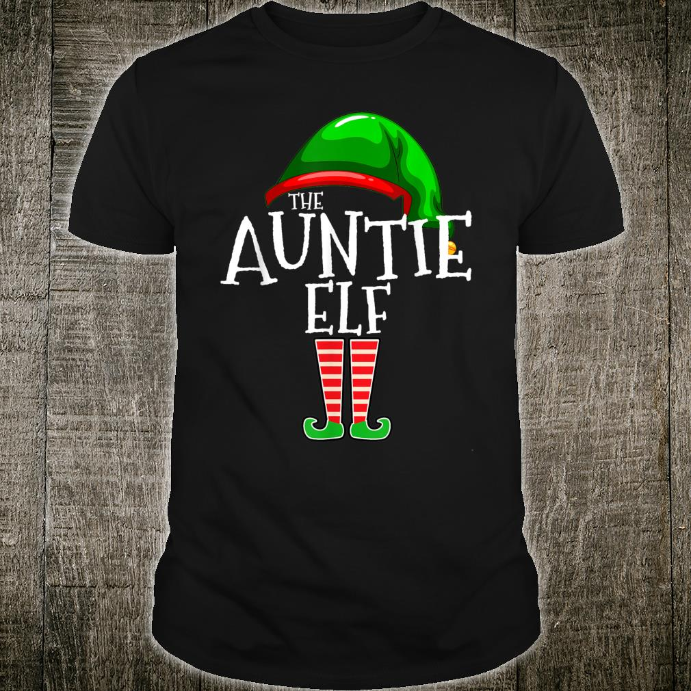 The Auntie Elf Family Matching Group Christmas Couple Shirt