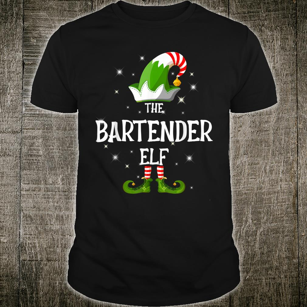 The Bartender Elf Family Matching Group Christmas Shirt