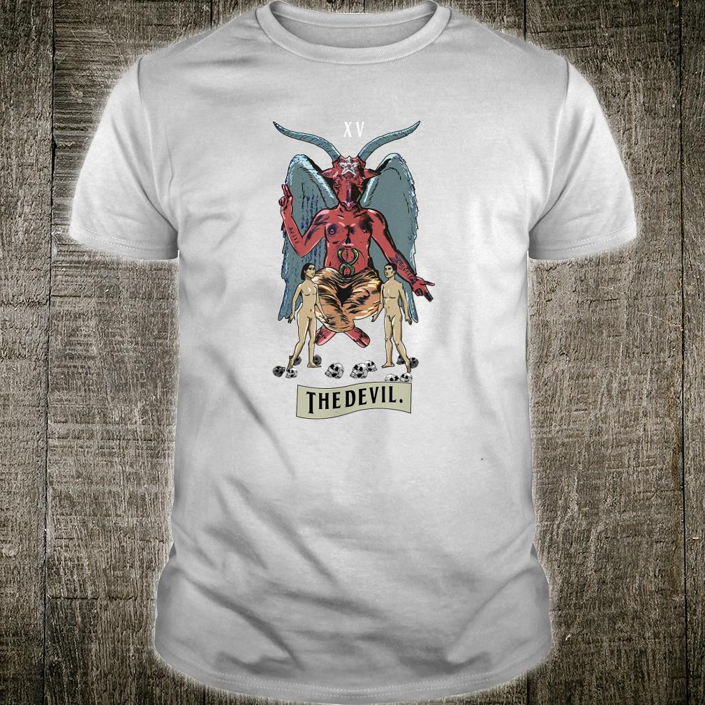 The Devil Card Vintage Dark Symbol Devilish Goth Shirt
