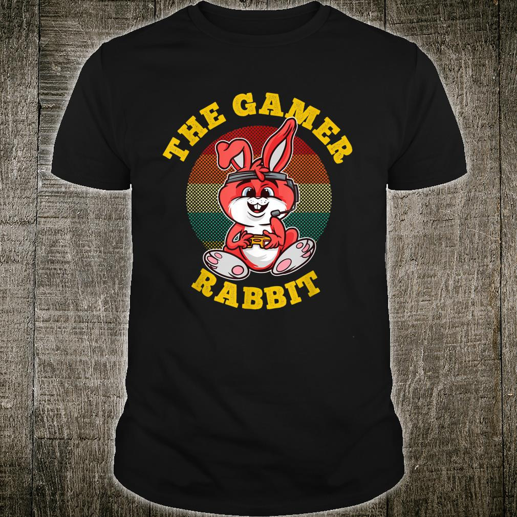 The Gamer Rabbit a Cute Easter Idea for Gamers Shirt