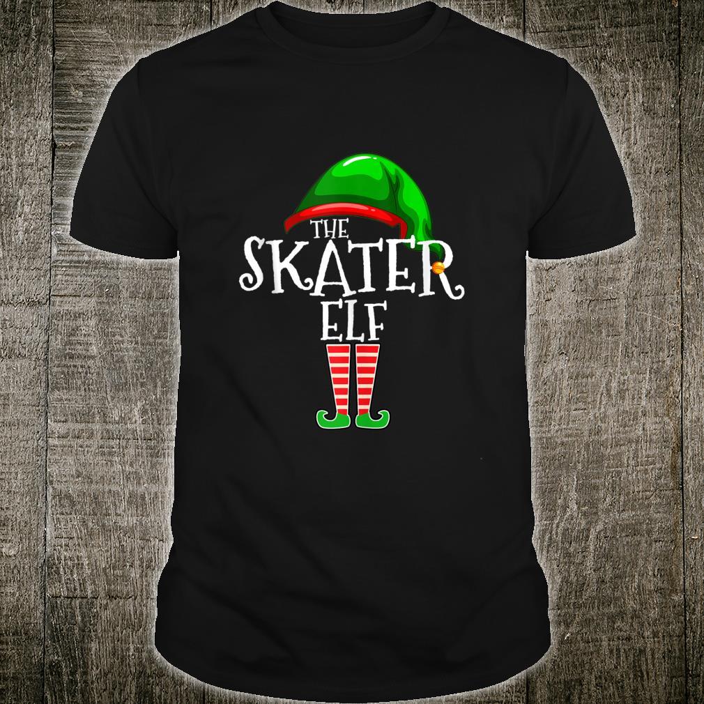 The Skater Elf Family Matching Group Christmas Shirt