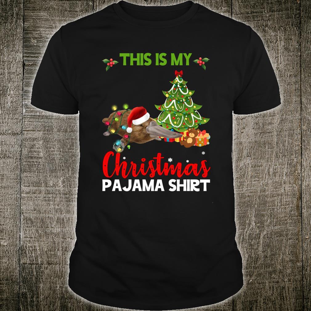 This Is My Christmas Pajama Platypus Santa Christmas Shirt