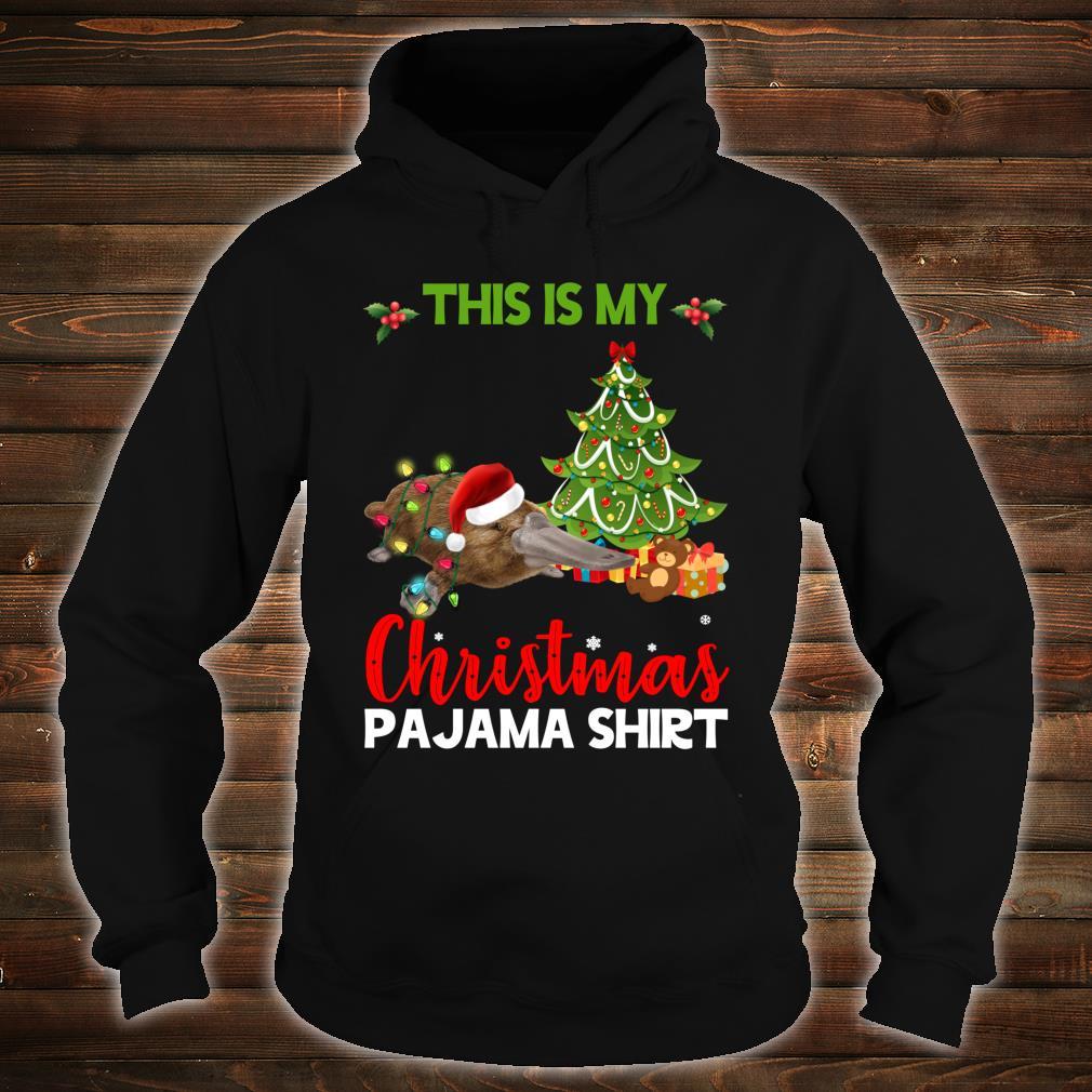 This Is My Christmas Pajama Platypus Santa Christmas Shirt hoodie