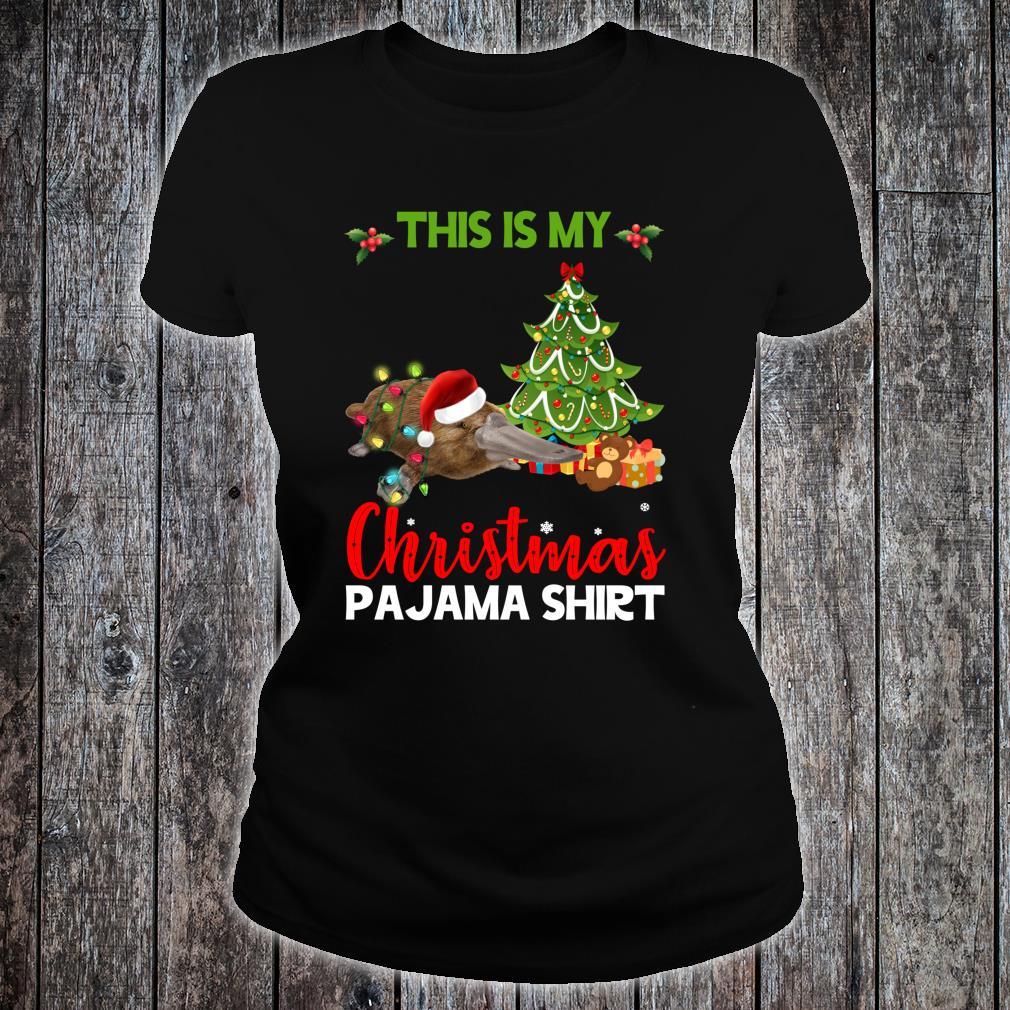 This Is My Christmas Pajama Platypus Santa Christmas Shirt ladies tee