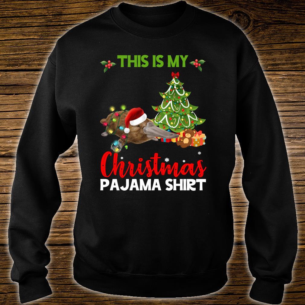 This Is My Christmas Pajama Platypus Santa Christmas Shirt sweater