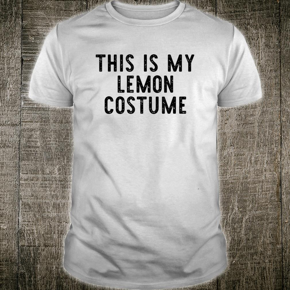 This Is My Lemon Costume Halloween Cool Easy Lazy Shirt