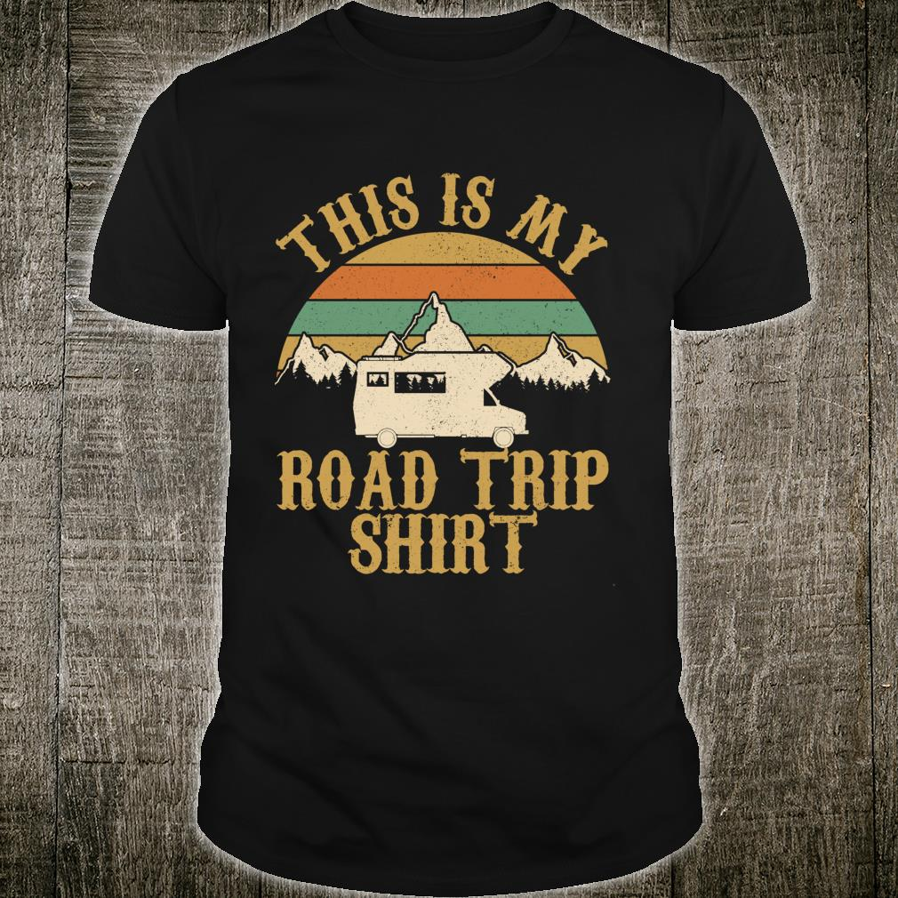 This Is My Road Trip Vintage Camping Wohnmobil Shirt