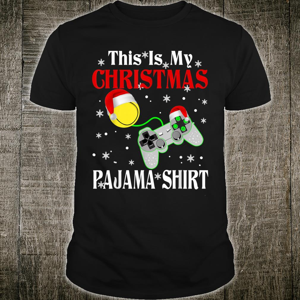 This Is My Tennis Video Game Christmas Pajama Shirt
