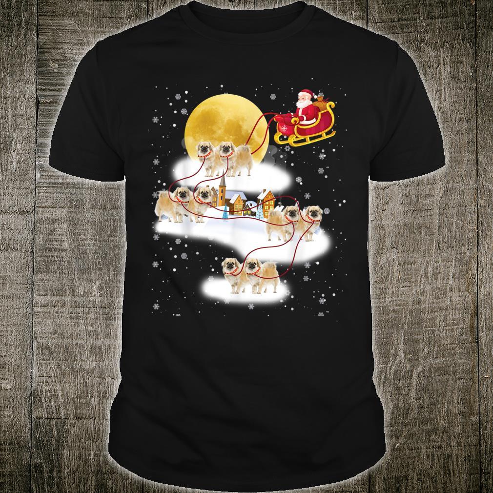 Tibetan Spaniel Dog Light Christmas Reindeer Tree Xmas Shirt