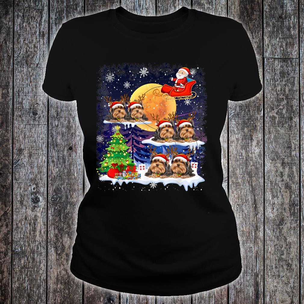 Tibetan Terrier Dog Christmas Reindeer Tree Xmas For Shirt ladies tee
