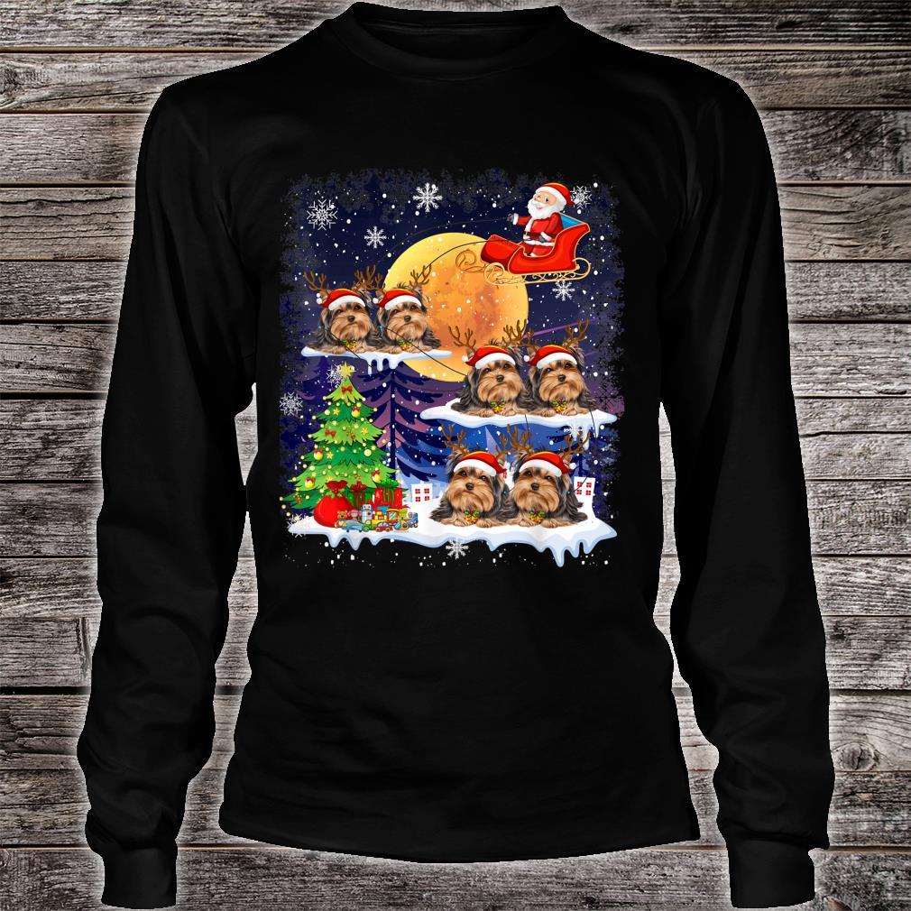 Tibetan Terrier Dog Christmas Reindeer Tree Xmas For Shirt long sleeved