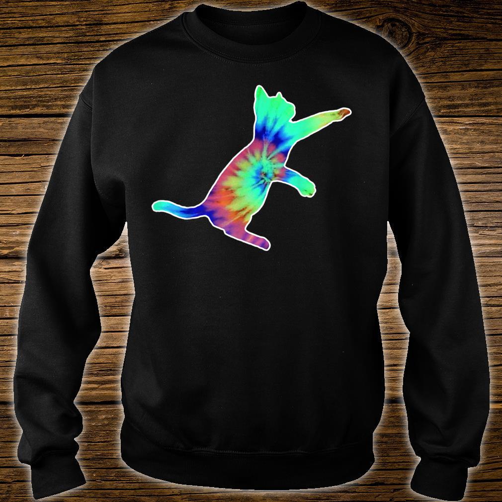 Tie Dye Cat Colorful Tye Dye Kitten Shirt sweater