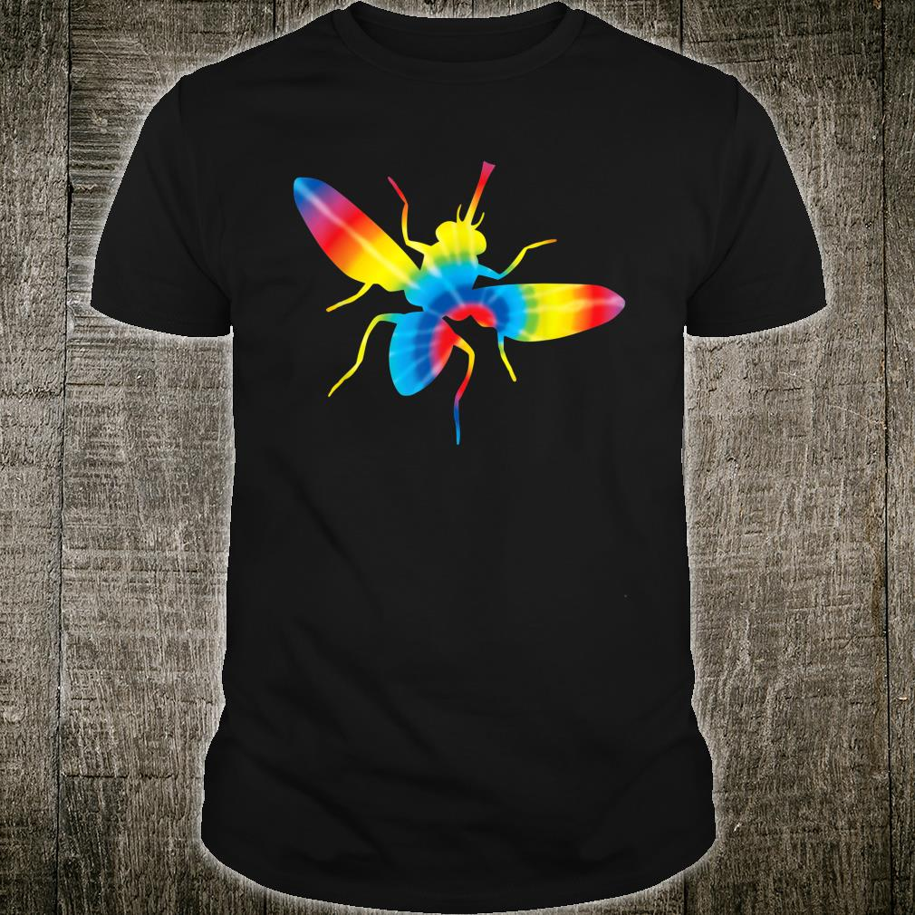 Tie Dye Fly Rainbow Print Housefly Insect Hippie Peace Shirt