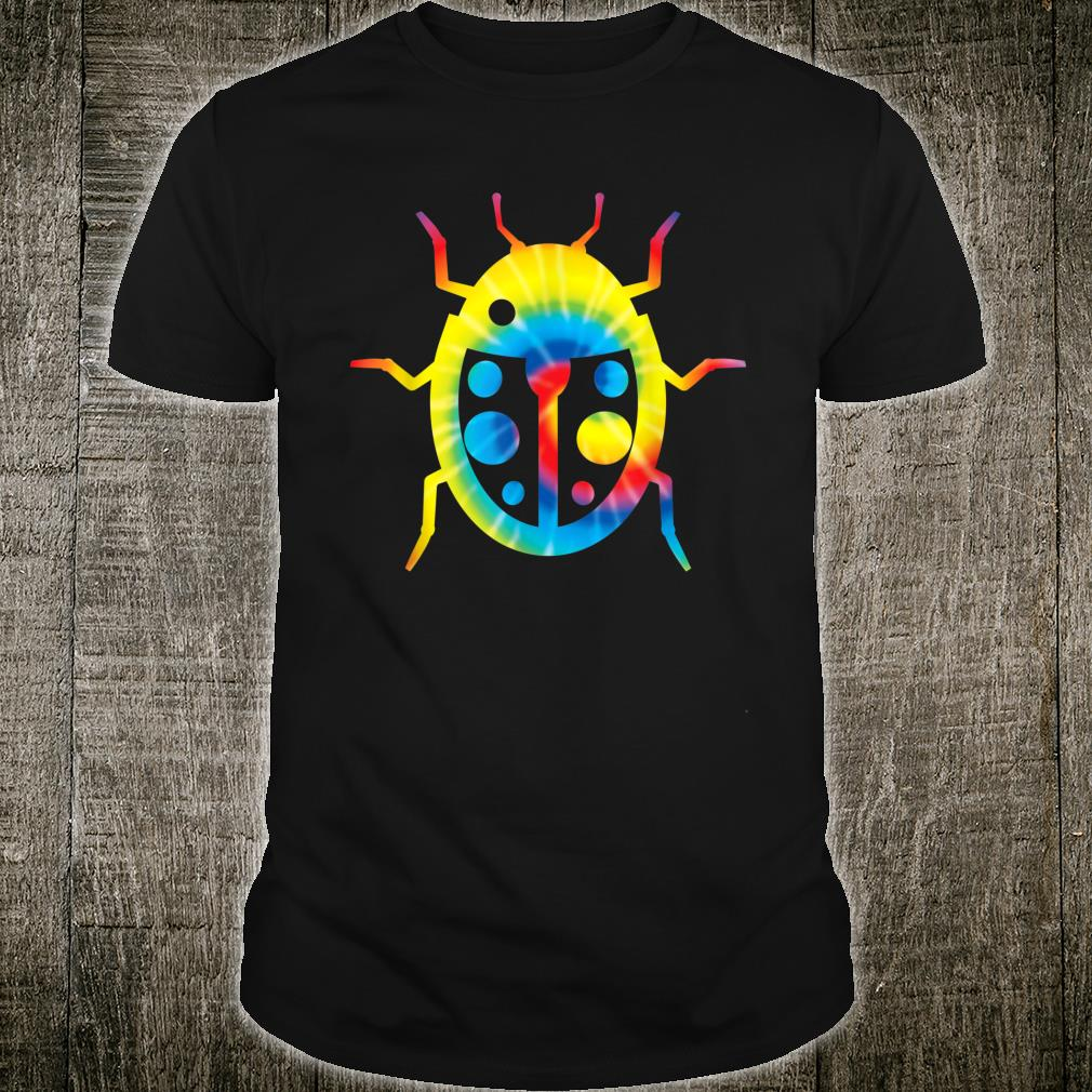 Tie Dye Ladybird Rainbow Print Insect Hippie Peace Shirt
