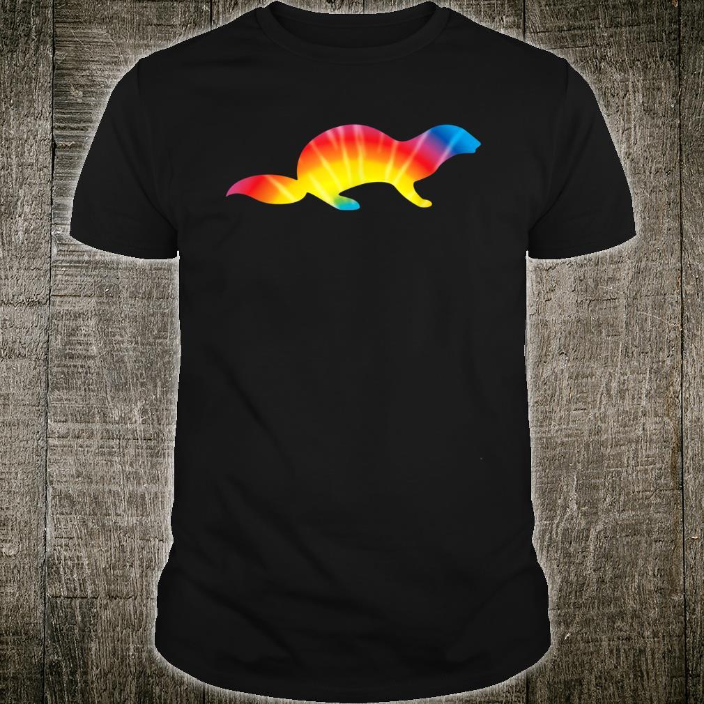 Tie Dye Otter Rainbow Print Weasel Animal Hippie Peace Shirt