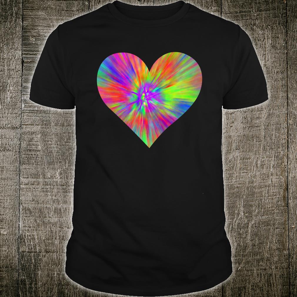 Tie Dye Peace Heart Cute Colorful Rainbow Sign Shirt