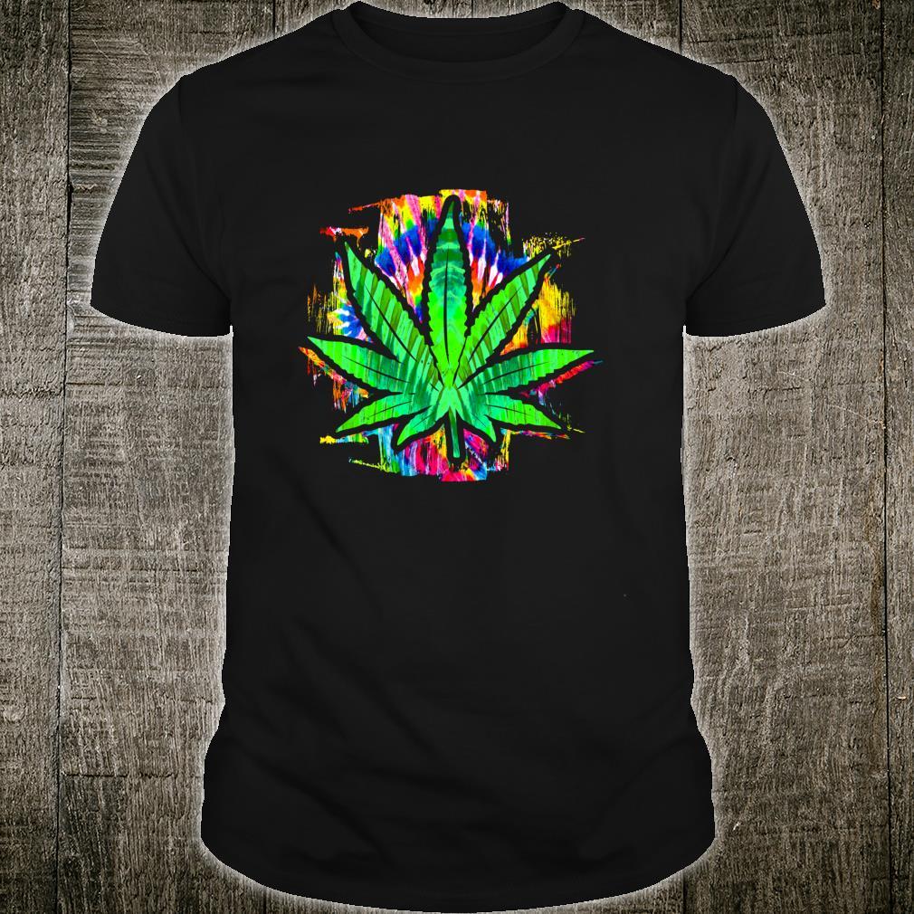 Tie Dye Pot Leaf Pothead Smoking Weed Hippie Stoner Shirt
