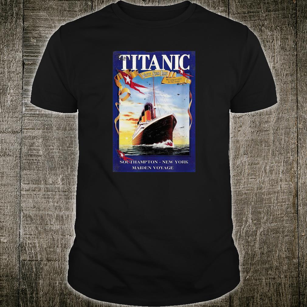 Titanic Poster Retro Ship Vintage Cruise Vessel Shirt