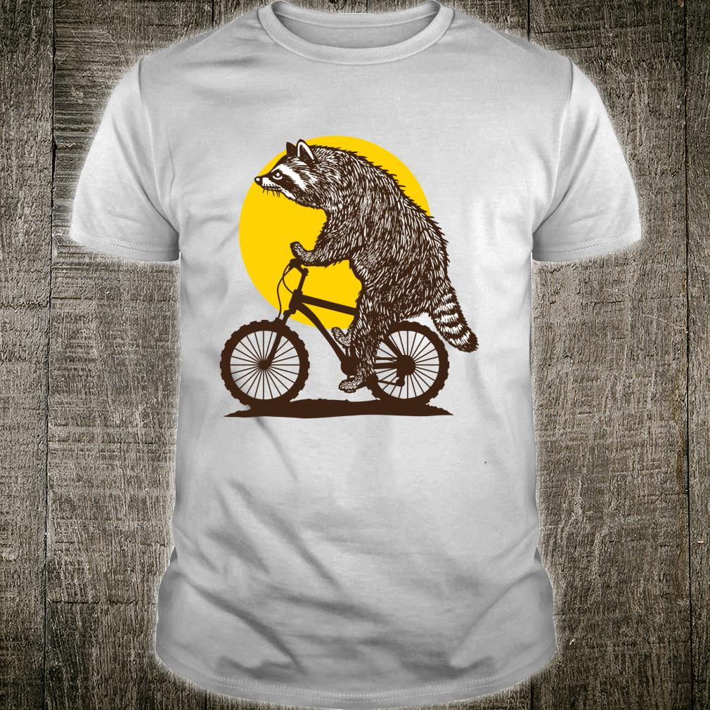 Trashy Bike Cute Raccoon Bicycling Shirt