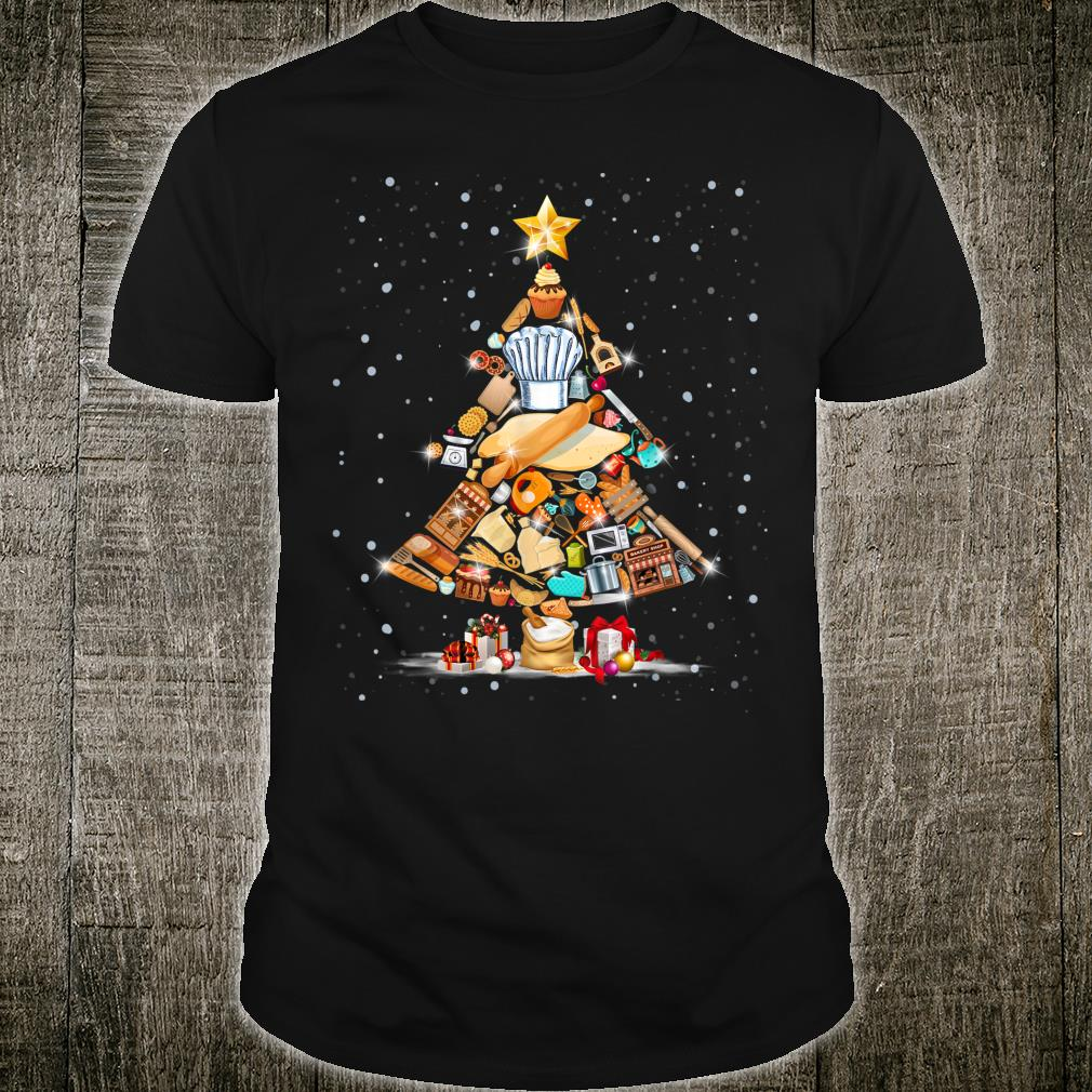 Tree Christmas Picture Teach Tools Baker Xmas Shirt