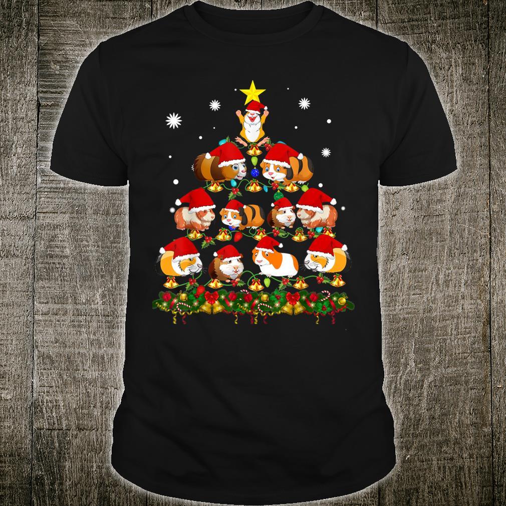Tree Guinea Pig Christmas Shirt