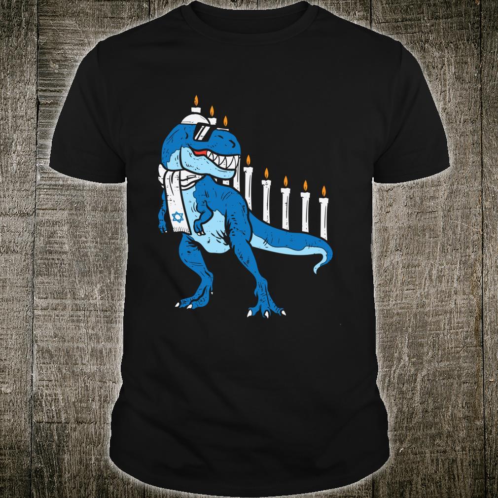 Trex Dinosaurorah Hanukkah Chanukah Jewish Boys Shirt