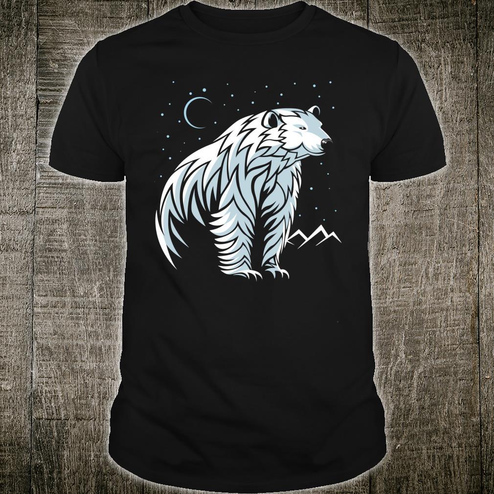 Tribal Polar Bear tattoo style Shirt