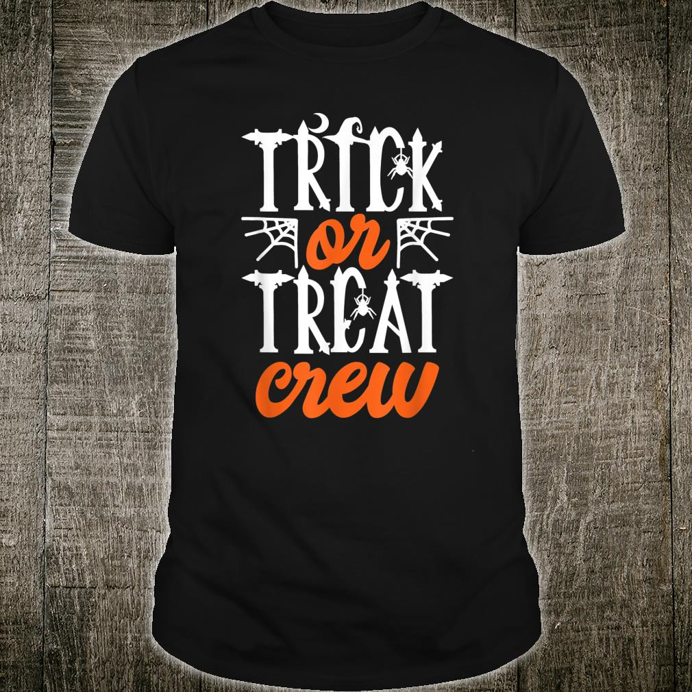 Trick Or Treat Crew Cute Moon Scary Spider Halloween Shirt