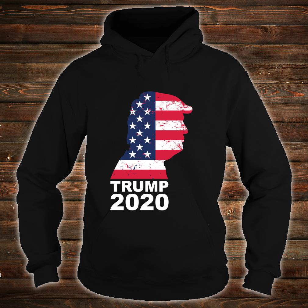 Trump 2020 American Flag Vintage President 45 Election Shirt hoodie