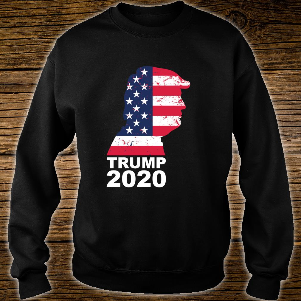 Trump 2020 American Flag Vintage President 45 Election Shirt sweater