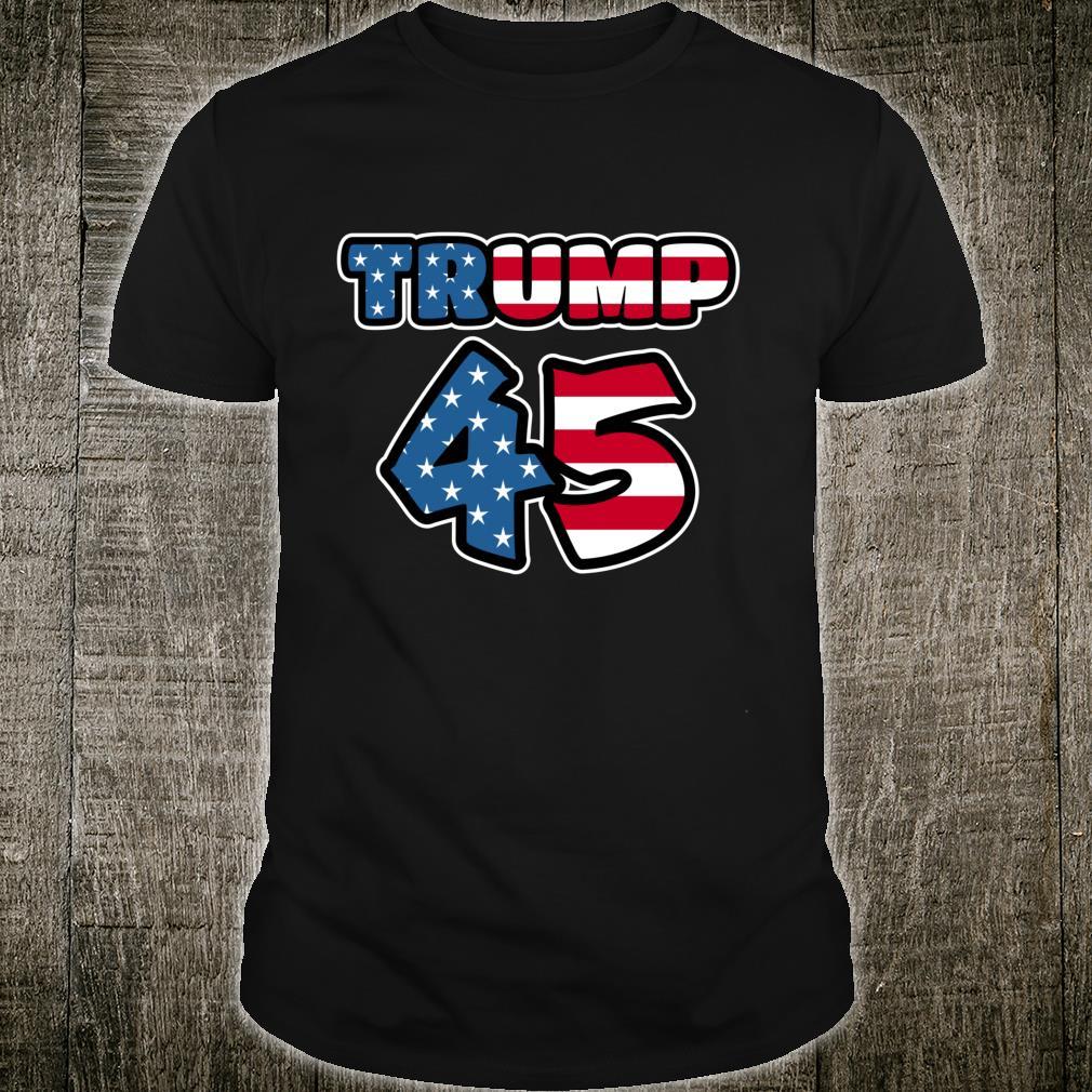 Trump 45 American Flag Shirt