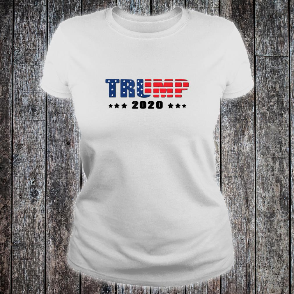 Trump Donald Trump election 2020 American flag USA outfit Shirt ladies tee