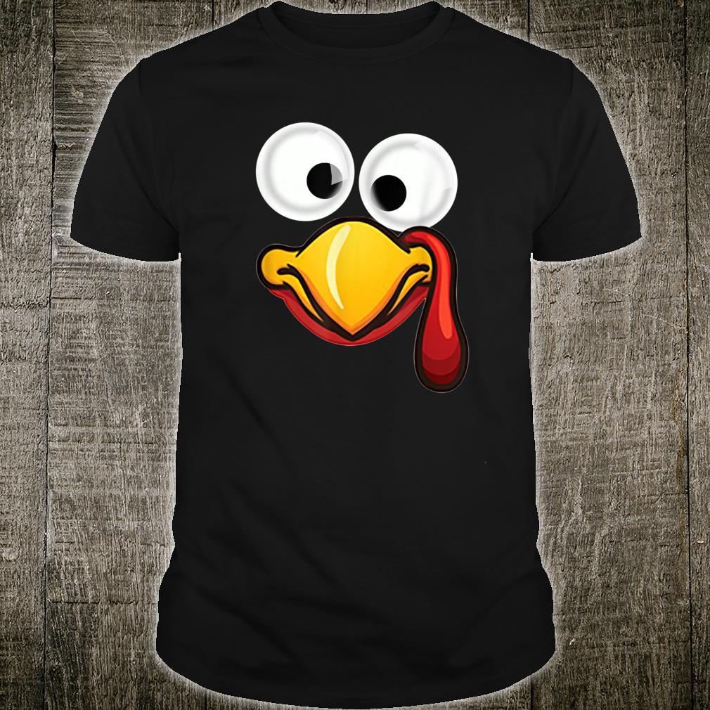 Turkey Face Thanksgiving Matching Family Costume Shirt