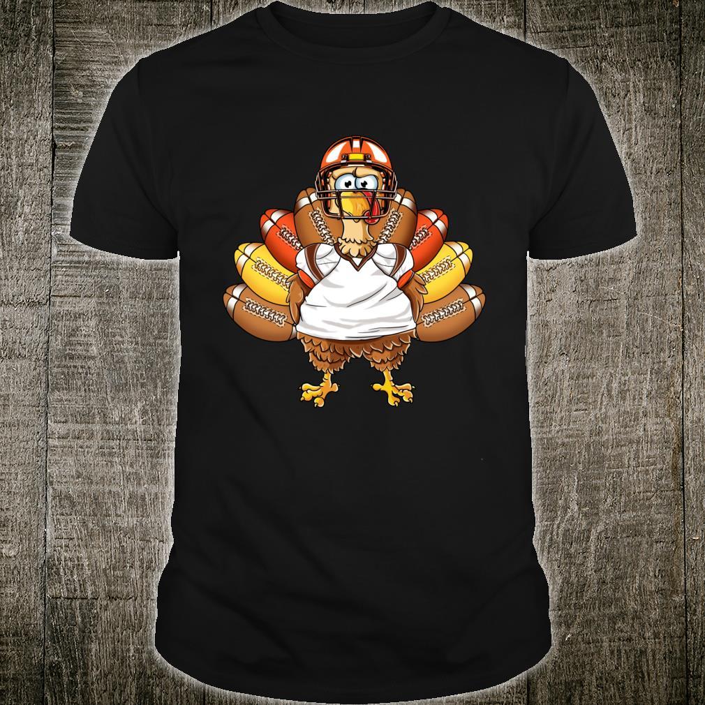 Turkey Football Thanksgiving Thankful Boys Shirt