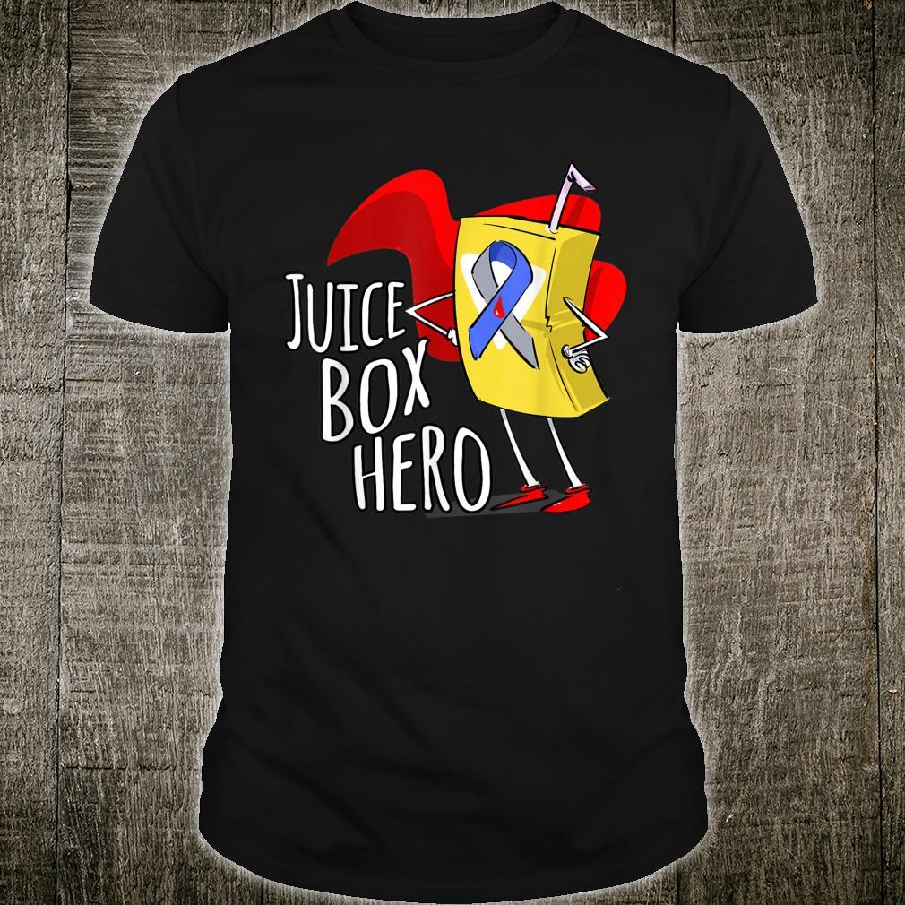 Type 1 Diabetes T1D Juice Box Hero Diabetic Awareness Shirt