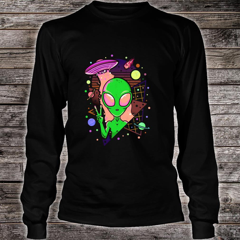 UFO Alien Japanese Vaporwave Retro Pastel Goth Otaku Shirt long sleeved