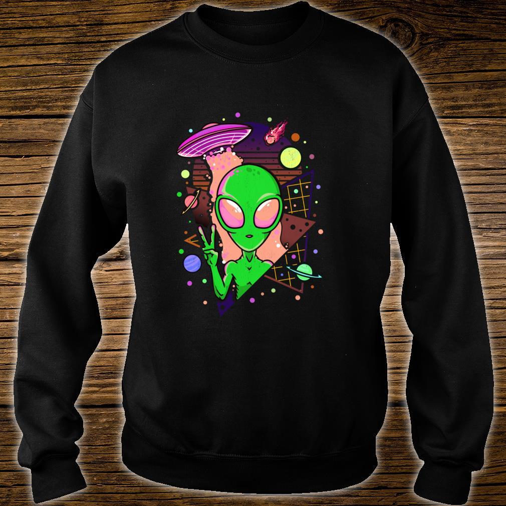 UFO Alien Japanese Vaporwave Retro Pastel Goth Otaku Shirt sweater