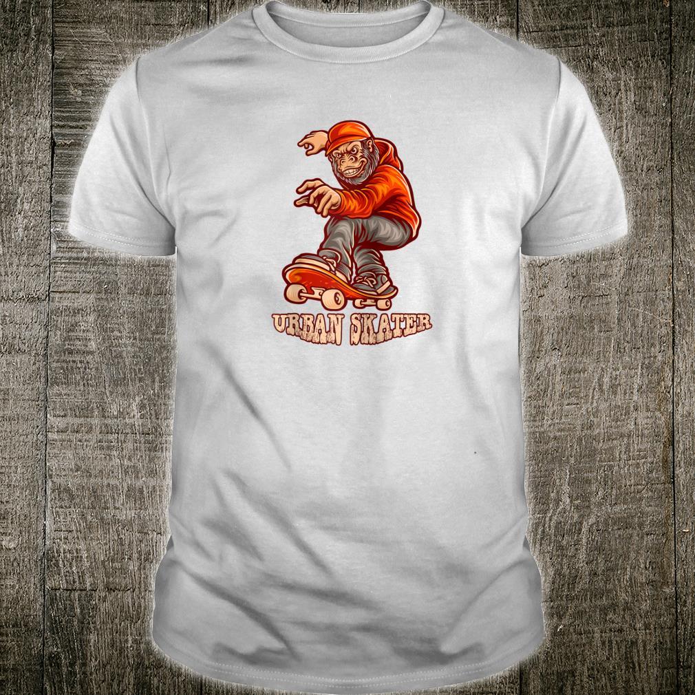 URBAN SKATER FREESTYLE GORILLA STREET SKATEBOARDER Shirt