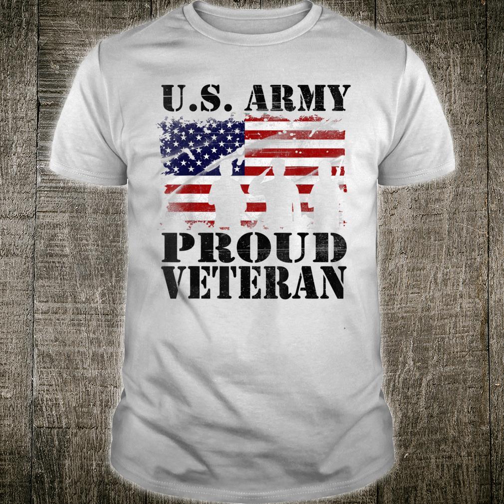 US Army Proud Veteran Defend Freedom July 4th Patriotic Shirt