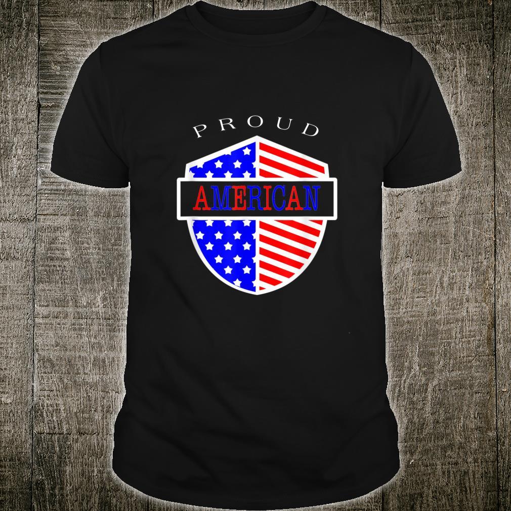 US Proud AMERICAN Flag Patriotic Shirt
