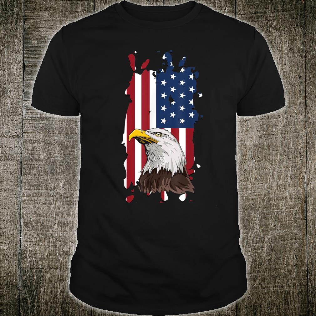US flag with eagle patriotic America support Shirt