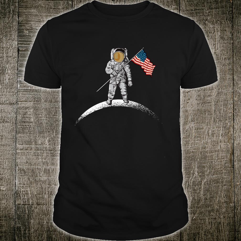USA Civil War Union Flag Heritage union flag Astronaut Moon Shirt
