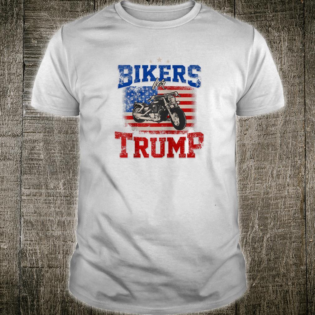 USA Flag Bikers for Trump Shirt