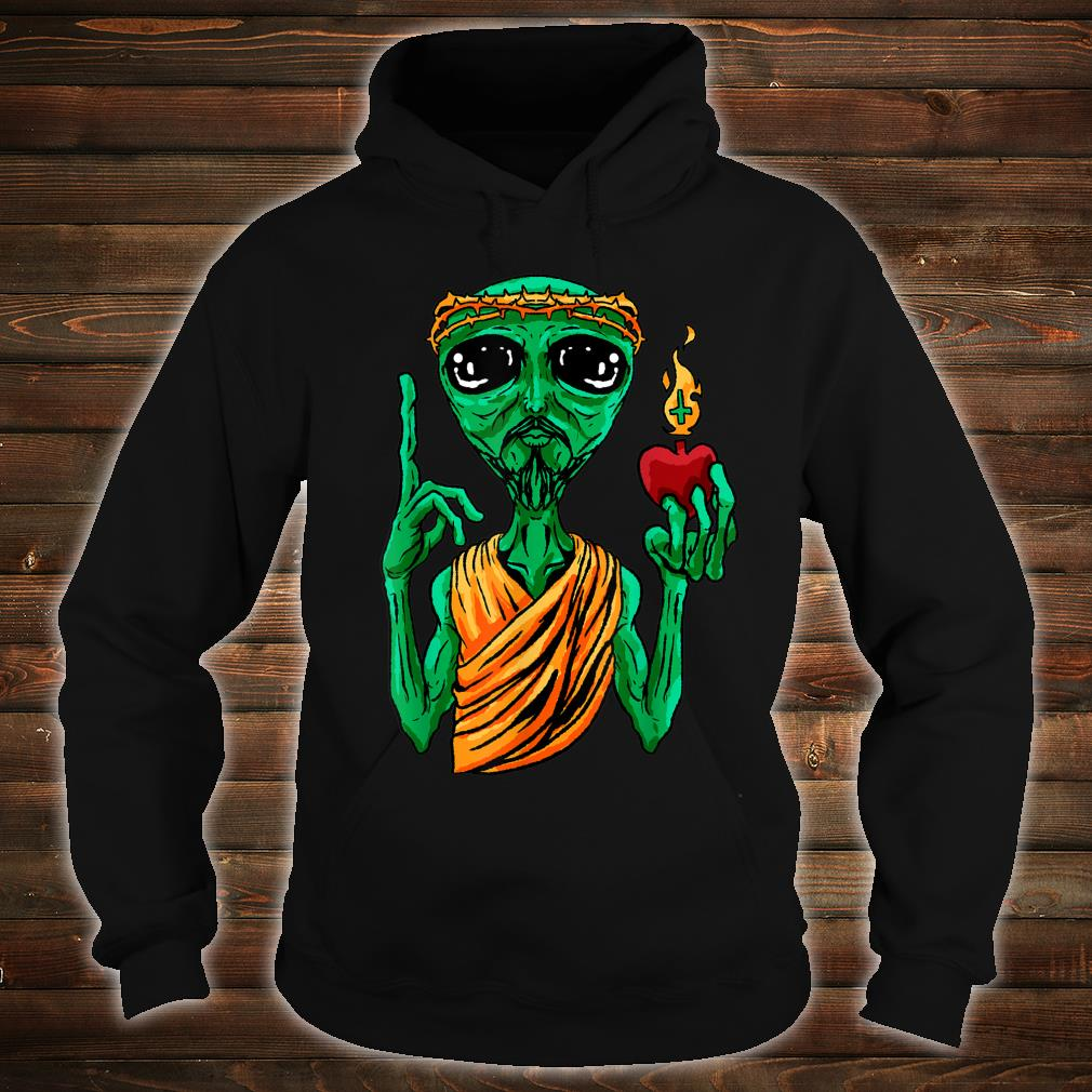 Ufo Alien Strange Foreign Cool Space Flying Saucer Idea Shirt hoodie