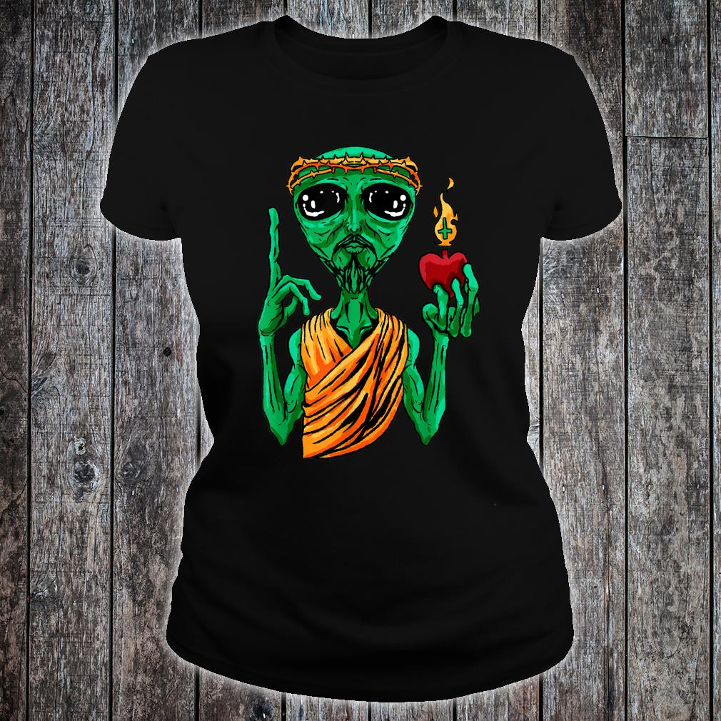 Ufo Alien Strange Foreign Cool Space Flying Saucer Idea Shirt ladies tee