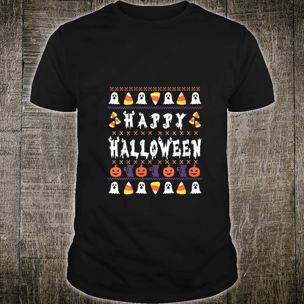 Ugly Halloween Candycorn Pumpkin Ghost Witch Shirt
